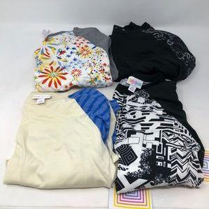 Lularoe bundle lot of 4 Randy T shirts XS NWT